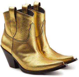 Maison Margiela Metallic Leather Ankle Boots