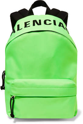 Balenciaga Wheel Neon Embroidered Shell Backpack