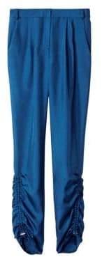 Tibi Mendini Shirred Twill Pants