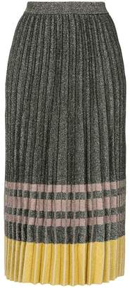Derek Lam 10 Crosby metallic pleated skirt