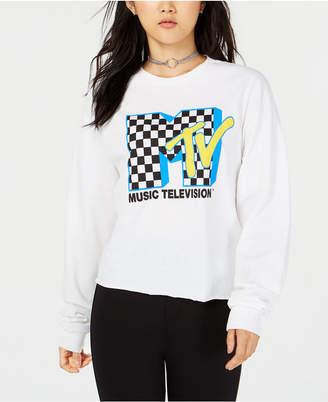 Freeze 24-7 Juniors' Mtv Crop Long-Sleeved Graphic T-Shirt