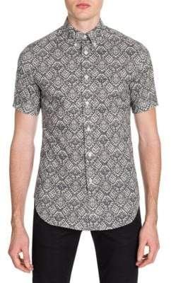 Alexander McQueen Lace-Print Button-Down Shirt