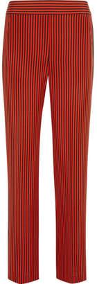 Etro - Striped Silk-satin Wide-leg Pants - Orange $970 thestylecure.com