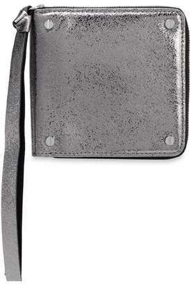 McQ Metallic Cracked-Leather Wallet