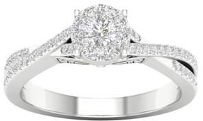 Imperial Diamond Imperial 1/2 Carat T.W. Diamond 10kt White Gold Criss Cross Engagement Ring