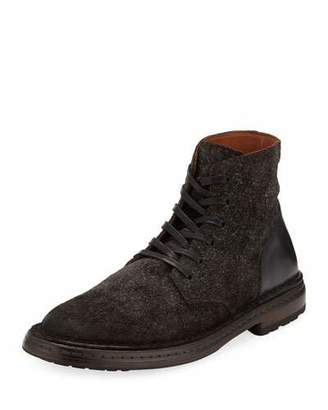 John Varvatos Venice Suede/Leather Lace-Up Boots