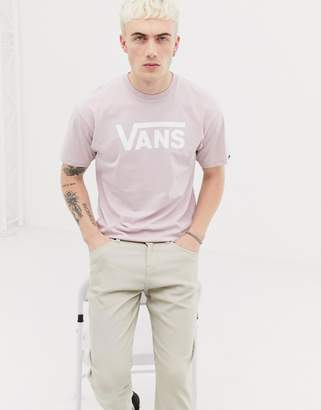 Vans large logo t-shirt in pink VN000GGGWV41