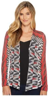 Nic+Zoe Zigzag Cardy Women's Sweater