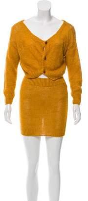 Bottega Veneta Knit Skirt Set
