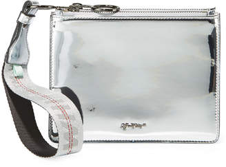 Off-White Off White Mirror Double Flat Pouch Bag