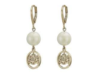 Lauren Ralph Lauren White Pearl Linear Earrings