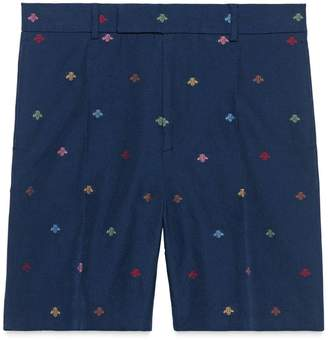 Gucci Bees cotton natté shorts