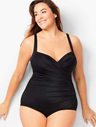 20cfc86c9fceb Talbots Plus Size Miraclesuit(R) Sanibel One-Piece