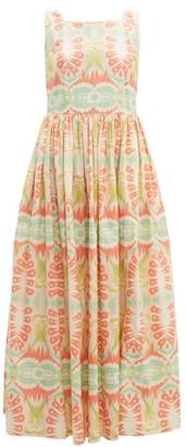 Le Sirenuse Le Sirenuse, Positano - Julia Print Cotton Poplin Dress - Womens - Pink Multi