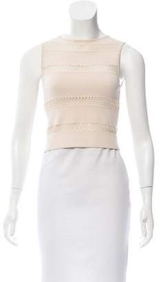 Alaia Cropped Open Knit Top