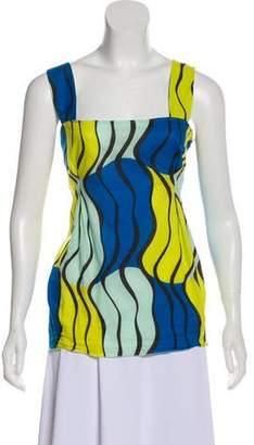 Marni Abstract Print Sleeveless Top