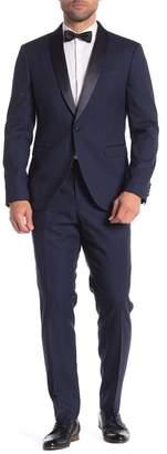14th & Union Blue One Button Shawl Lapel Extra Trim Tuxedo