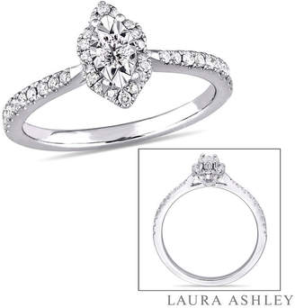 Laura Ashley MODERN BRIDE Womens 1/3 CT. T.W. Genuine White Diamond Sterling Silver Engagement Ring