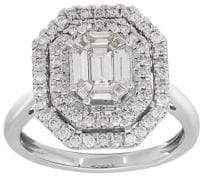 Lord & Taylor Diamond and 14K White Gold Solitaire Ring