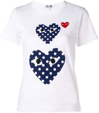 Comme des Garcons polka dot heart T-shirt