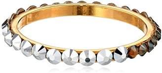 Chamak by Priya Kakkar Dainty Round Dual Swarovski Element Crystal Gold Ring