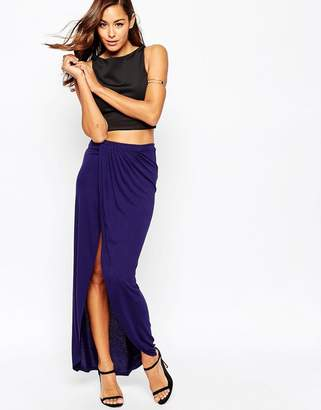 Asos Wrap Maxi Skirt in Jersey
