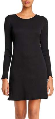 Aqua Rib-Knit Long-Sleeve Dress - 100% Exclusive