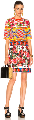 Dolce & Gabbana Printed Textured Cotton Dress $1,995 thestylecure.com