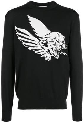 Givenchy Flying Cat knitted jumper