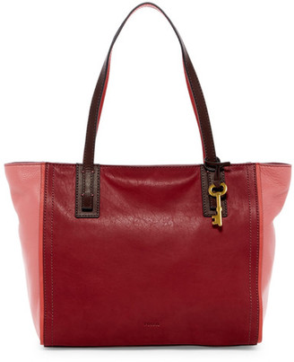 Fossil Emma Colorblock Leather Tote $198 thestylecure.com