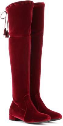 Prada Velvet over-the-knee boots