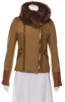 Hotel Particulier Lamb Leather Trim Jacket