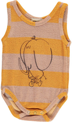 BOBO CHOSES The Cyclist Striped Sweat Sleeveless Babygrow $54 thestylecure.com
