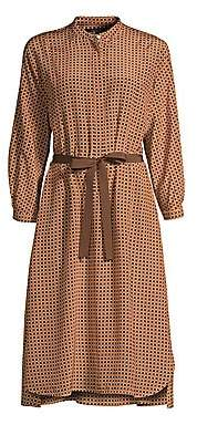 Max Mara Women's Ario Printed Silk Dress