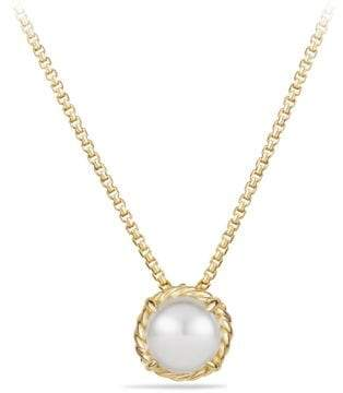 David Yurman Davidyurman Chatelaine Pendant Necklace With Pearl In 18K Gold