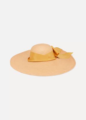 Sensi Studio - Lady Ibiza Bow-embellished Toquilla Straw Hat - Beige $295 thestylecure.com