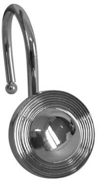 Atlin Designs Circles Shower Hook in Chrome (Set of 12)