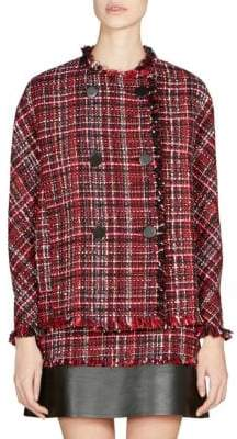 Alexander McQueen Double-Breasted Tweed Jacket