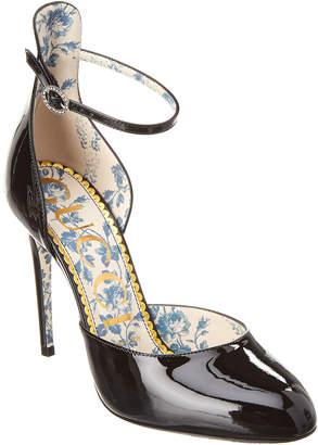 Gucci Patent Ankle Strap Pump