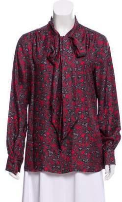 Marc Jacobs Silk Button-Up Blouse