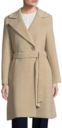 Cinzia Rocca Women's Belted Notched-Collar Coat