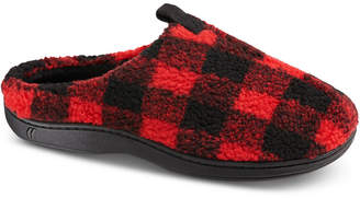 totes Isotoner Men's Berber Owen Plaid Hoodback Slippers