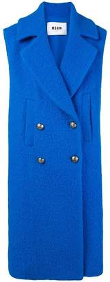MSGM double-breasted sleeveless coat