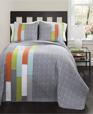 Lush Decor Shelly Stripe 2-Pc Set Twin Quilt Set