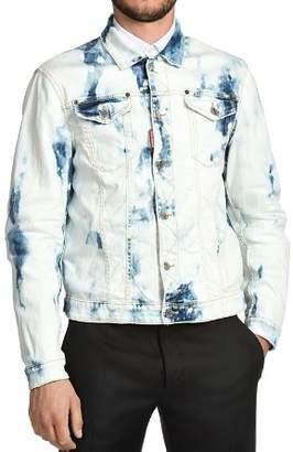 DSQUARED2 Dane Bleached Tie-Dye Jean Jacket