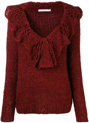 Mes Demoiselles chunky knit ruffled sweater