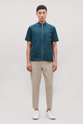 Cos ZIP-UP SHORT-SLEEVED SHIRT