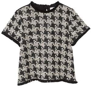 MANGO Houndstooth t-shirt