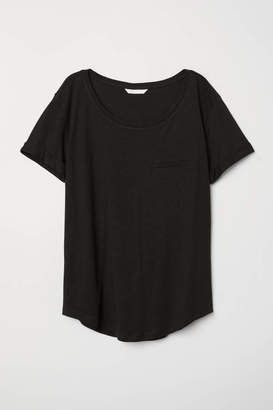 H&M Slub Jersey T-shirt - Black - Women