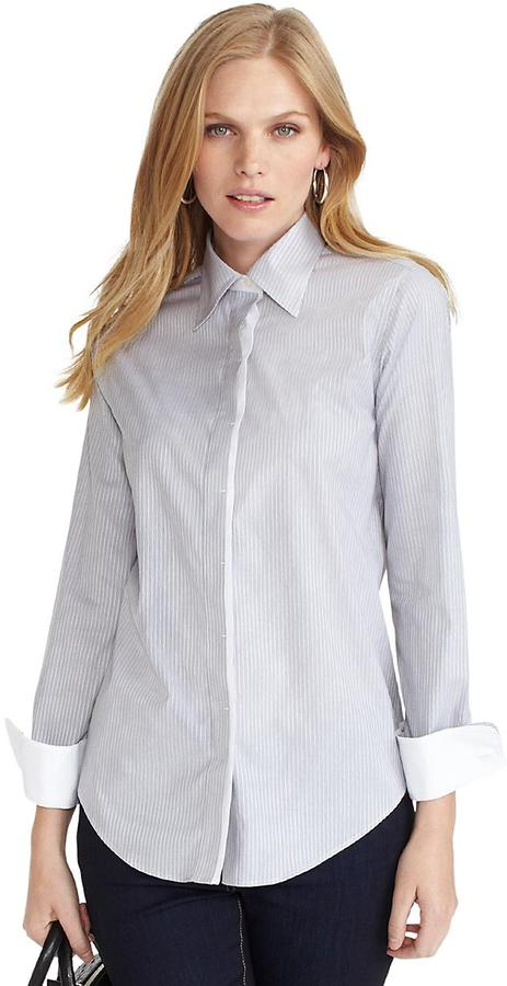 Non-Iron Classic Fit Mini Stripe Dress Shirt with XLA